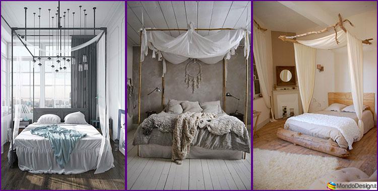 Baldacchino fai da te 20 idee per un letto romantic chic for Decorare la stanza da letto