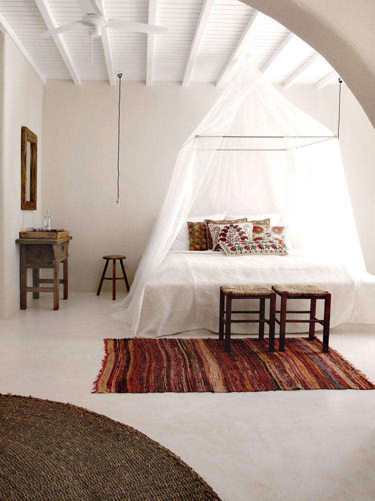 Baldacchino fai da te 20 idee per un letto romantic chic - Camera da letto boho chic ...
