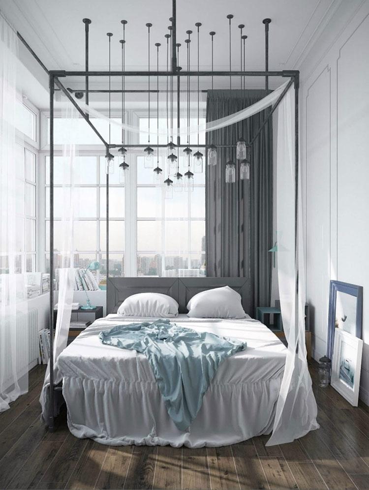 Idee per costruire un letto a baldacchino fai da te n.03