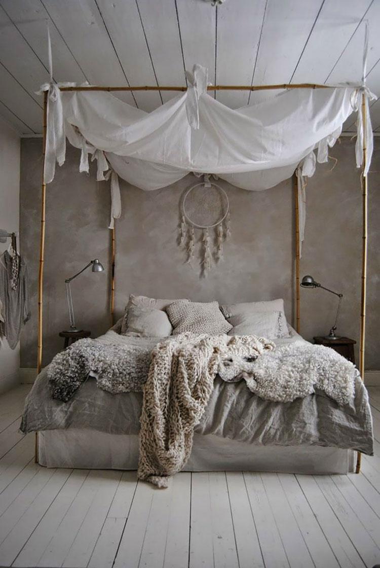 Idee per costruire un letto a baldacchino fai da te n.07