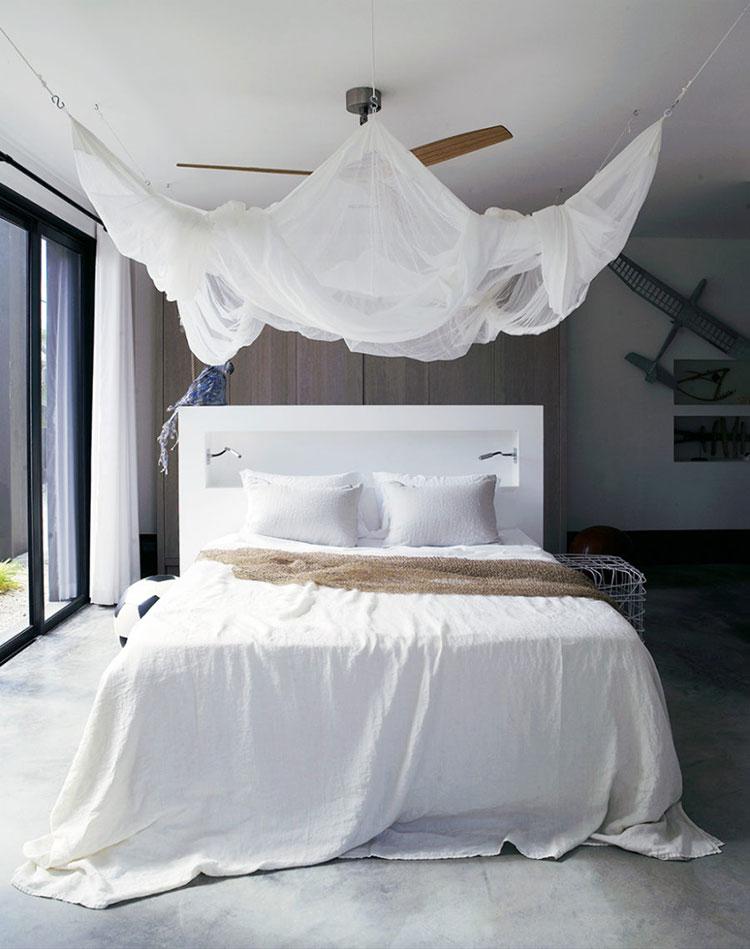 Idee per costruire un letto a baldacchino fai da te n.09