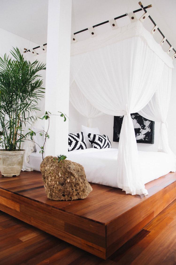 Idee per costruire un letto a baldacchino fai da te n.12