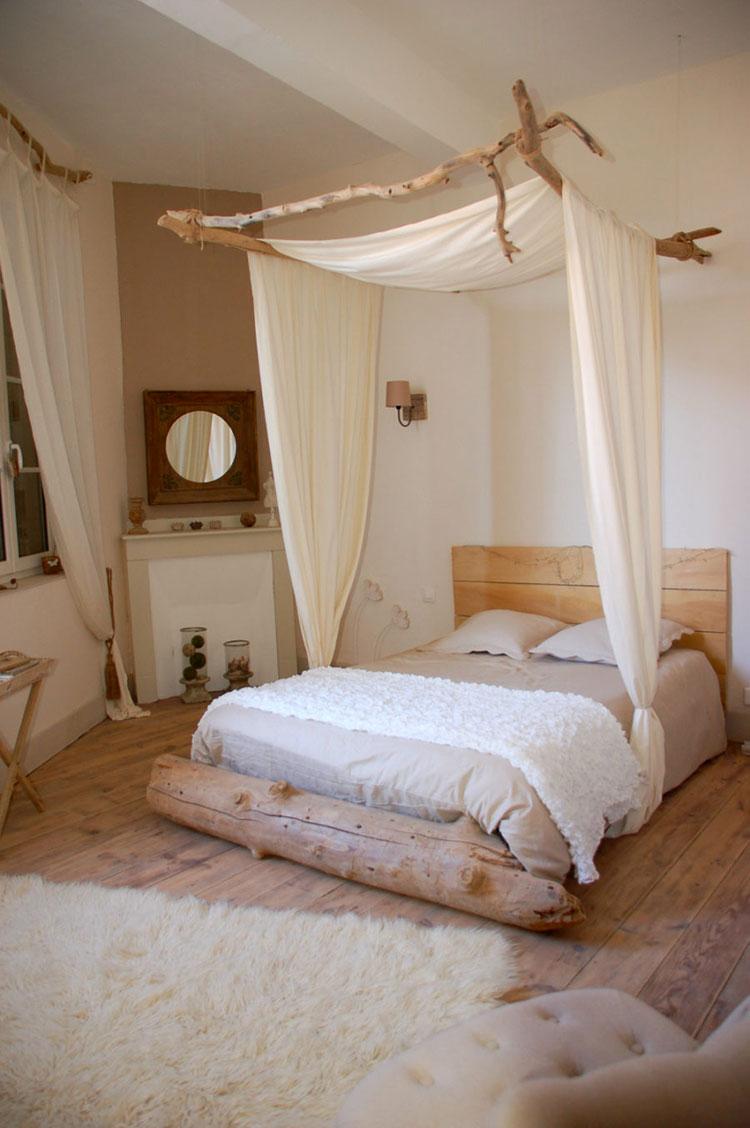Idee per costruire un letto a baldacchino fai da te n.13