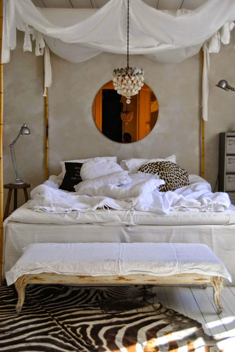 Idee per costruire un letto a baldacchino fai da te n.14