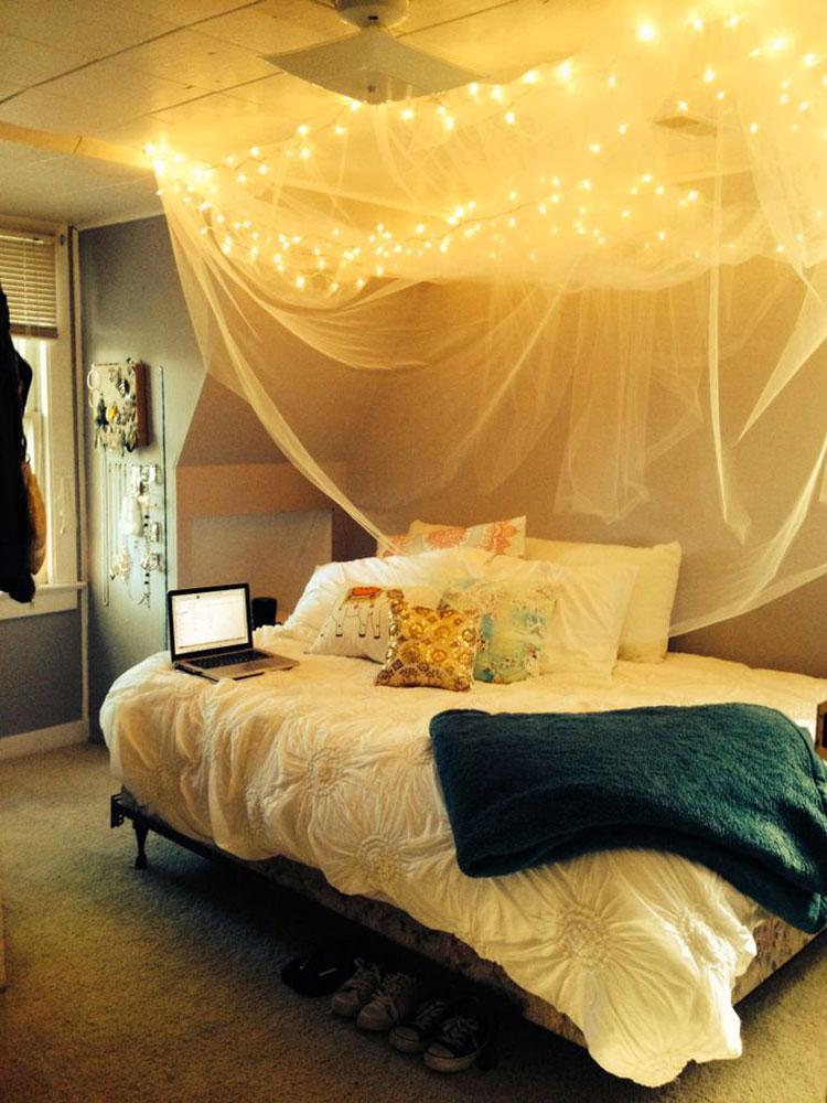 Idee per costruire un letto a baldacchino fai da te n.17