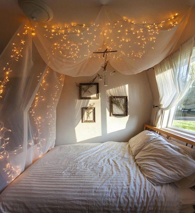 Idee per costruire un letto a baldacchino fai da te n.18