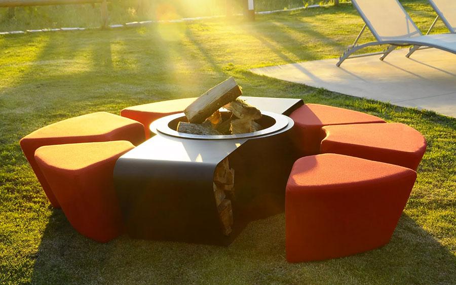 Bracieri da giardino di design ecco 20 modelli pratici ed eleganti - Braciere da esterno ...