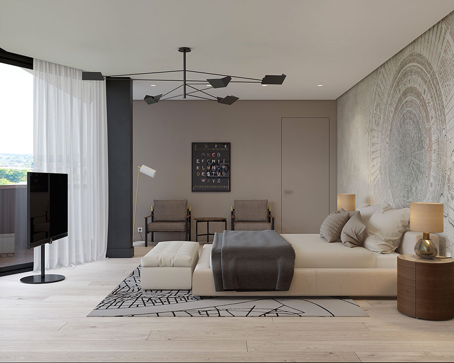 Camera da letto beige 20 idee di arredo dal design - Camera da letto moderno ...