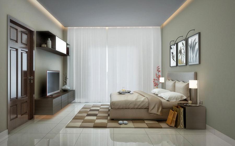 Idee per arredare una camera da letto beige n.12