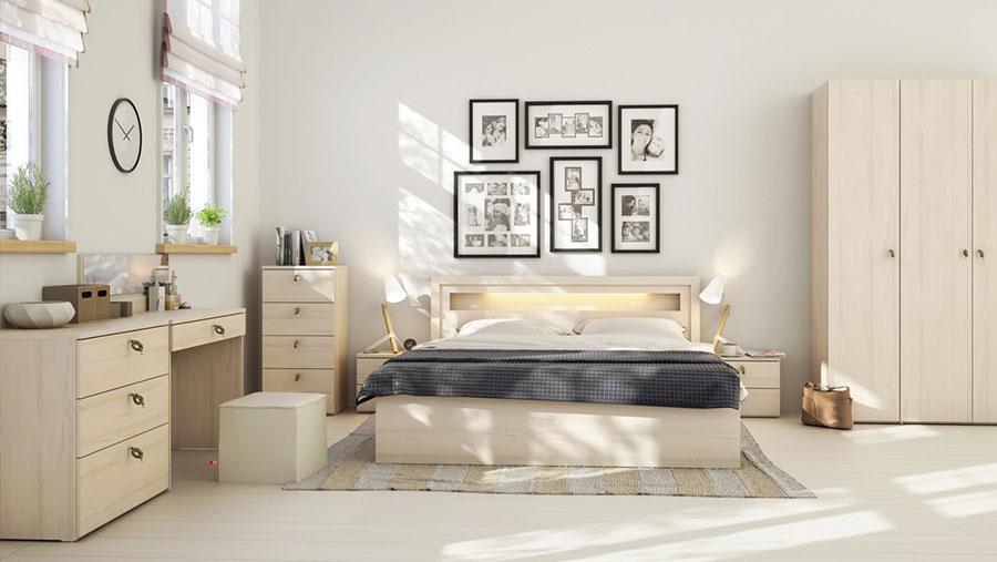Idee per arredare una camera da letto beige n.14