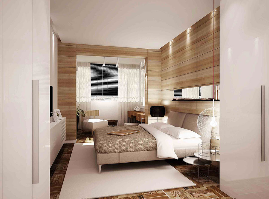 Colori bianco e beige per la camera da letto 2