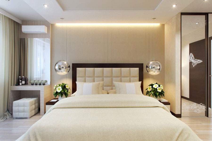 Idee per arredare una camera da letto beige n.16