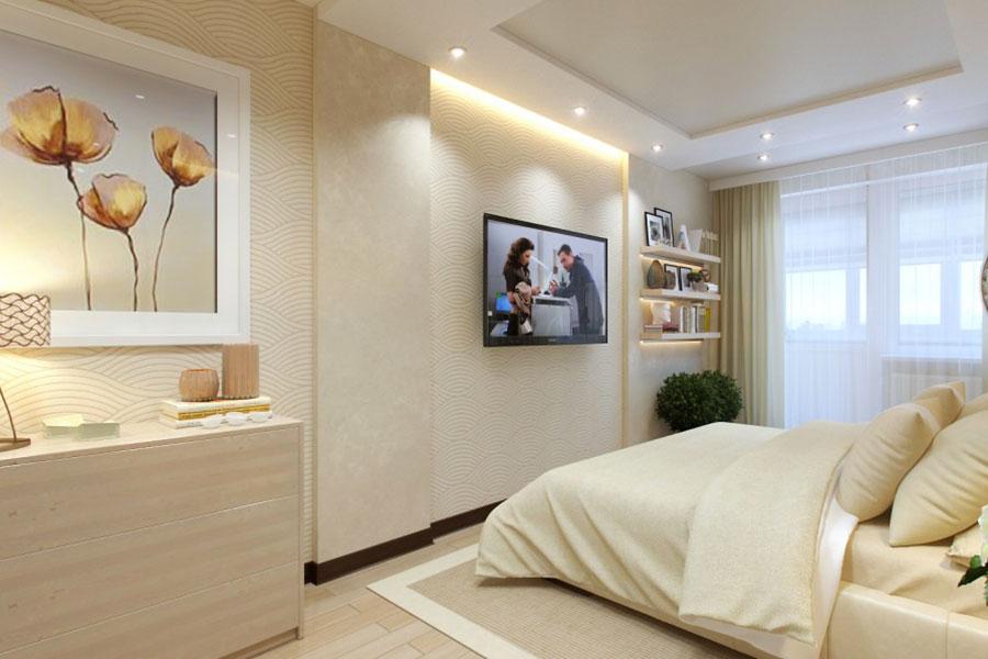 Idee per arredare una camera da letto beige n.17