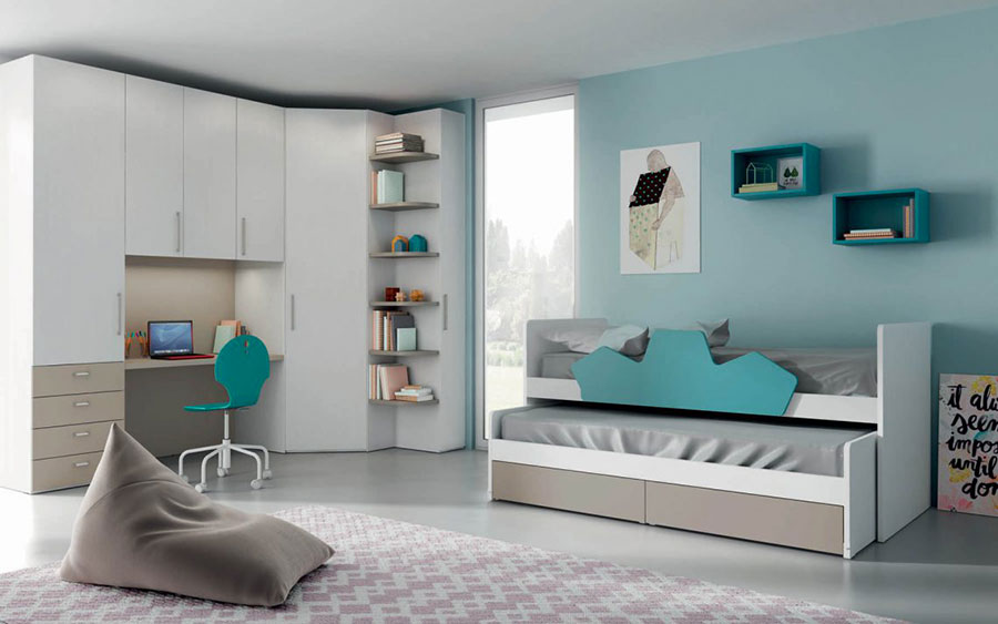 30 modelli di camerette salvaspazio per bambini e ragazzi - Mobili per bambini design ...