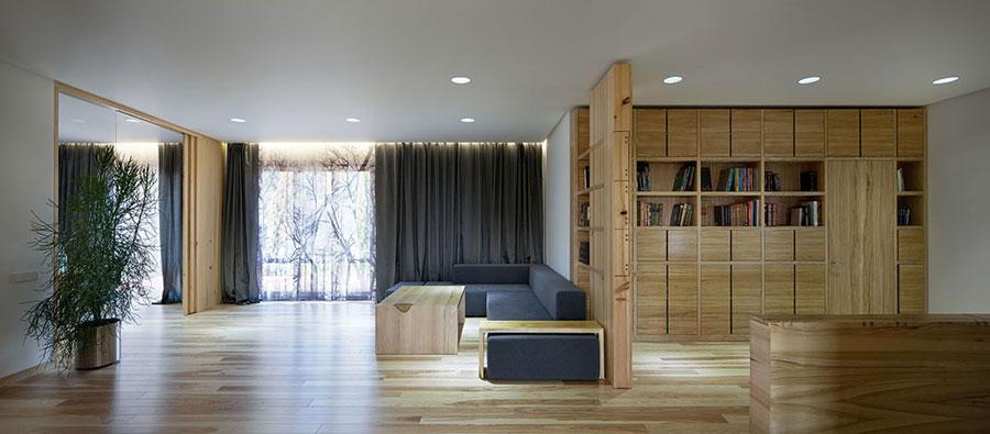 Idee per arredare una casa da sogno con interni in legno dal design moderno n.01