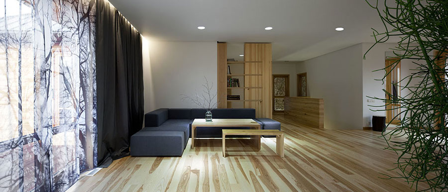 Idee per arredare una casa da sogno con interni in legno dal design moderno n.02