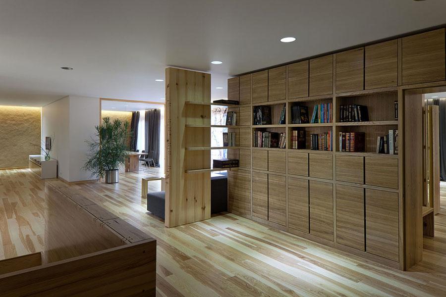 Idee per arredare una casa da sogno con interni in legno dal design moderno n.03