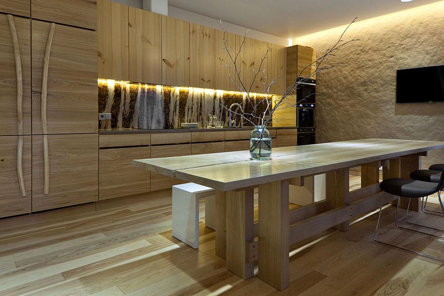 Idee per arredare una casa da sogno con interni in legno dal design moderno n.05