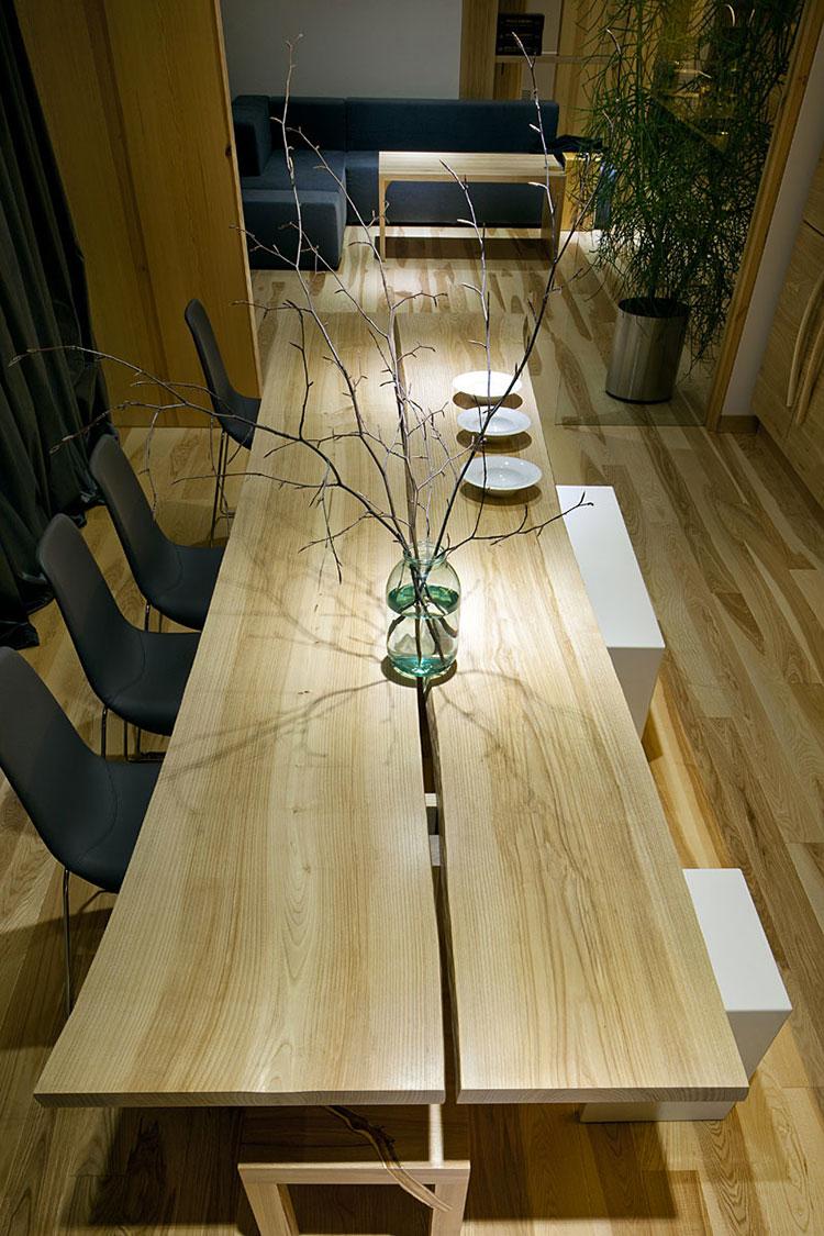 Idee per arredare una casa da sogno con interni in legno dal design moderno n.07