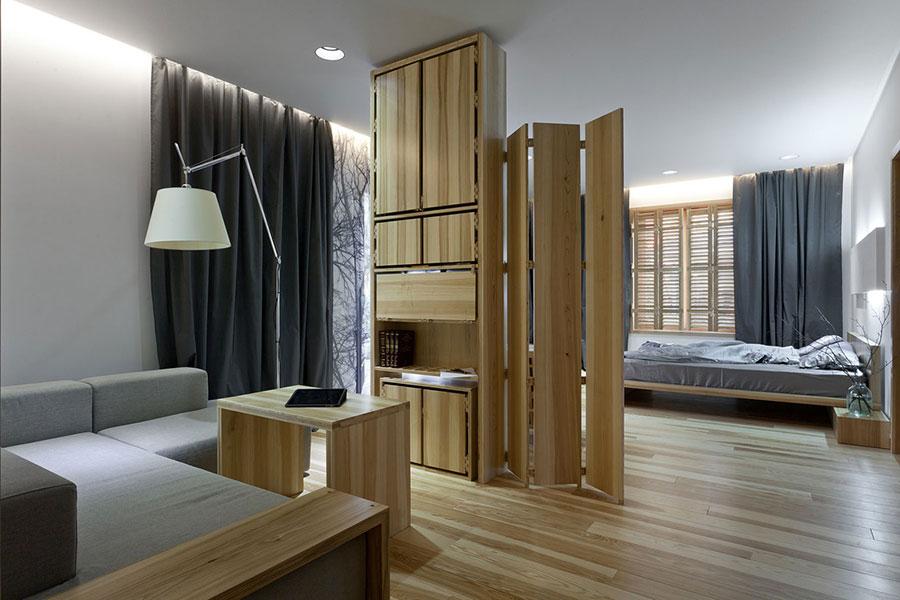 Idee per arredare una casa da sogno con interni in legno dal design moderno n.08