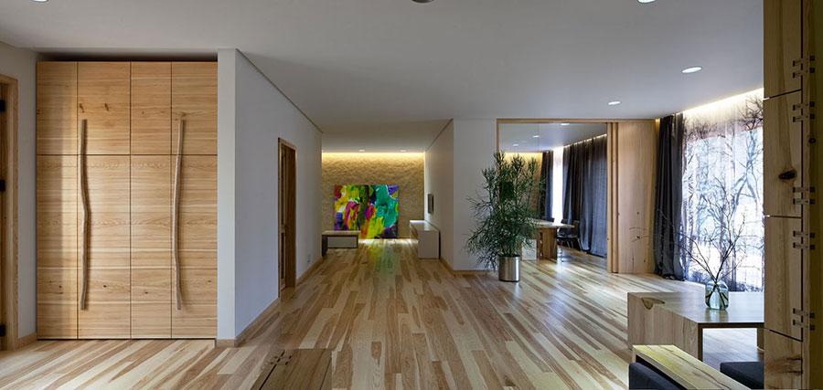Idee per arredare una casa da sogno con interni in legno dal design moderno n.11