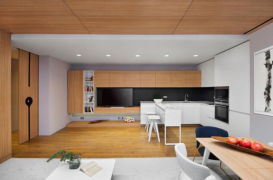 Idee per arredare una casa da sogno con interni in legno dal design moderno n.23