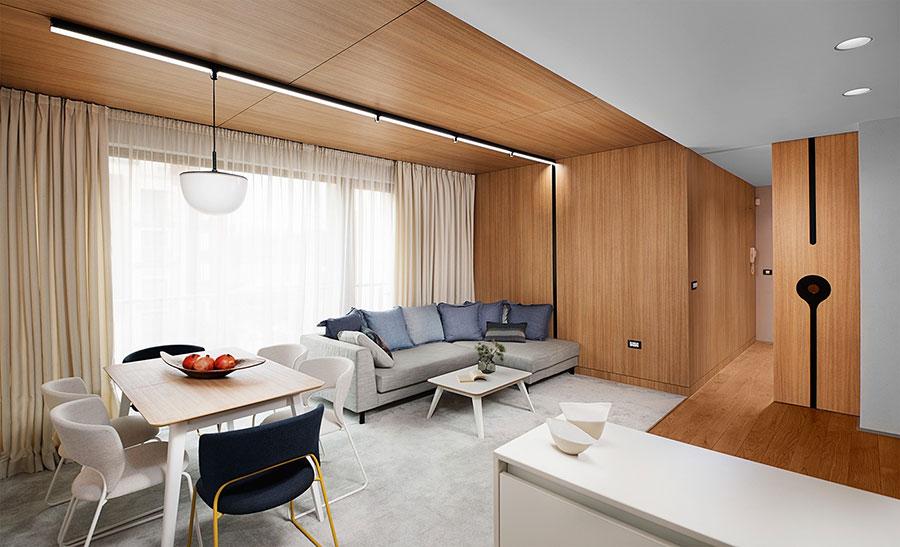 Idee per arredare una casa da sogno con interni in legno dal design moderno n.24