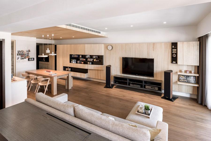 Case da sogno con interni in legno 4 progetti dal design for Interno di una casa