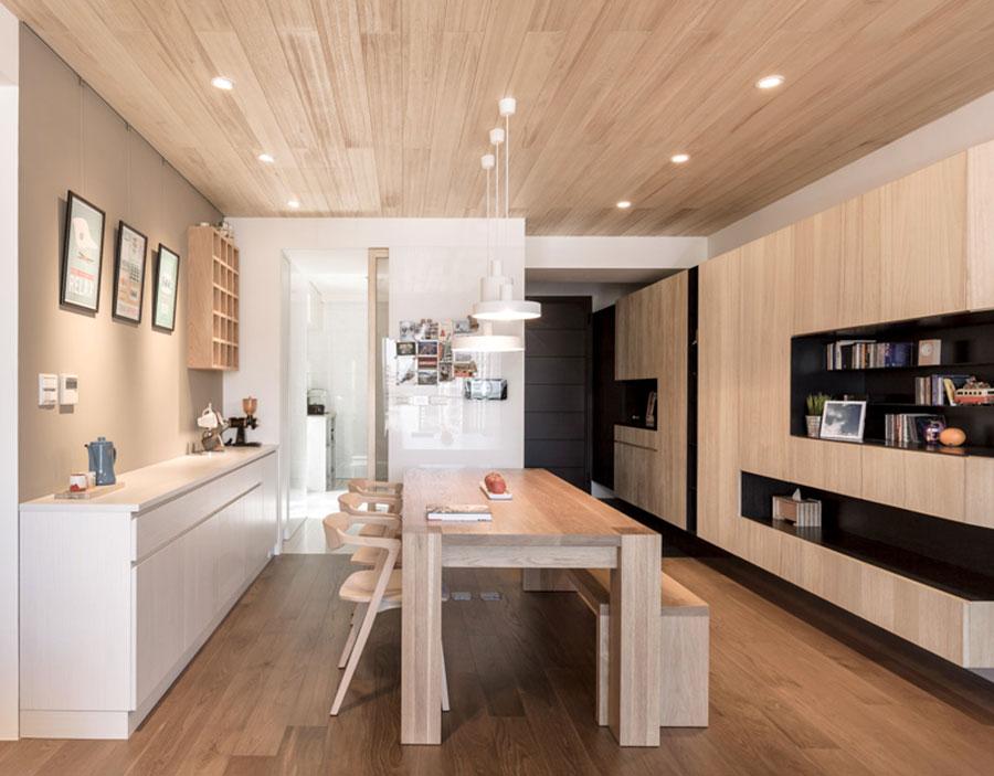 Idee per arredare una casa da sogno con interni in legno dal design moderno n.32