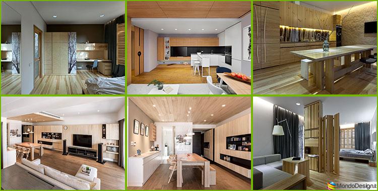 Case da sogno con interni in legno 4 progetti dal design for Arredamento interni case
