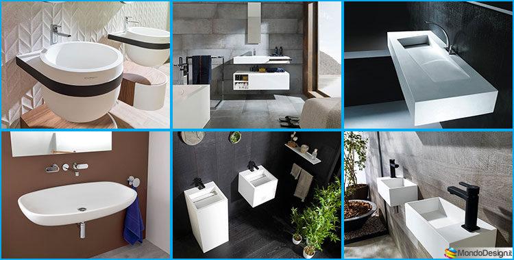 Lavabi Moderni Per Bagno.25 Modelli Di Lavabo Bagno Sospeso Dal Design Moderno Mondodesign It