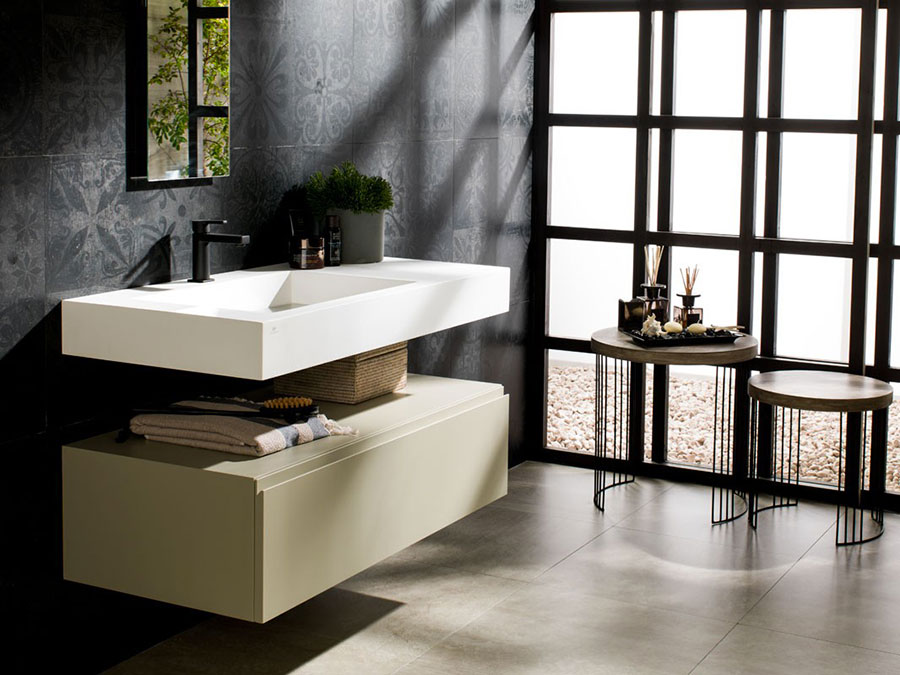 Lavabo bagno sospeso dal design moderno n.03
