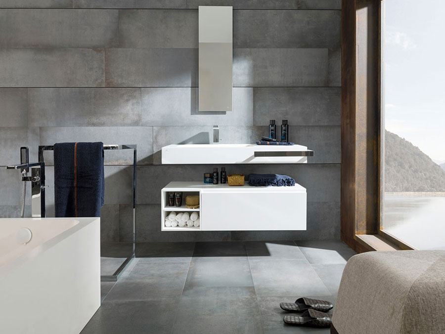 Lavabo bagno sospeso dal design moderno n.05