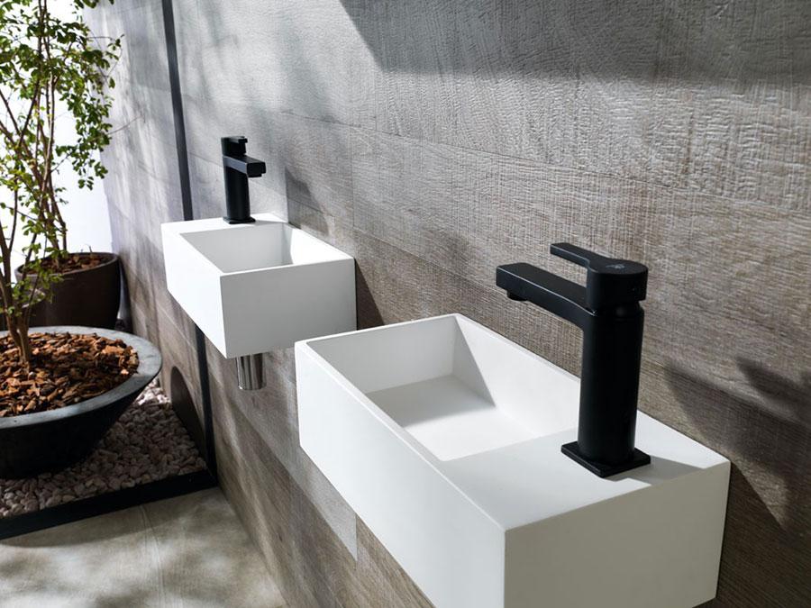 Lavabo bagno sospeso dal design moderno n.07