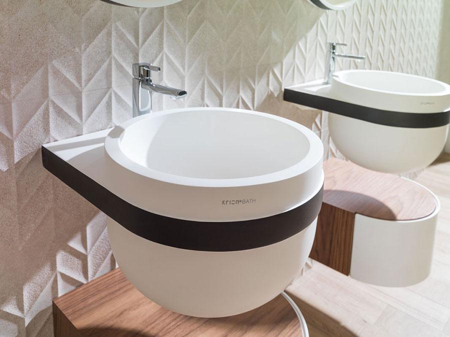 Lavabo bagno sospeso dal design moderno n.09