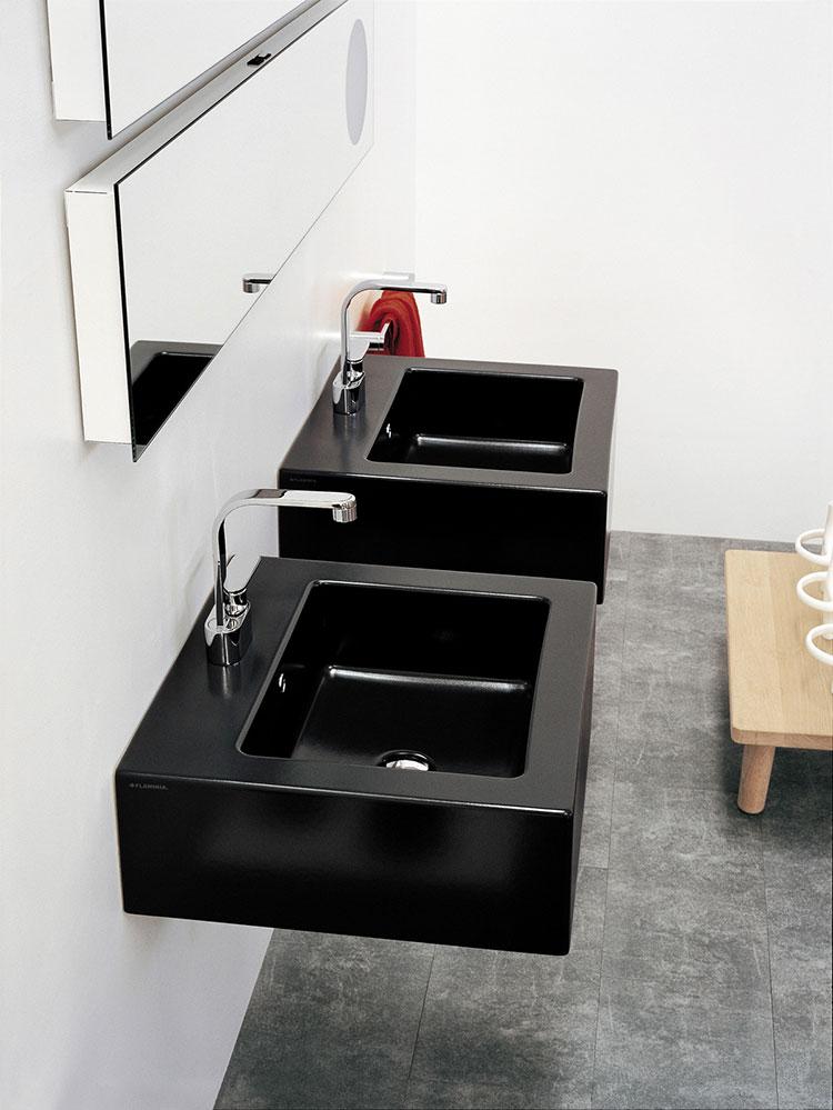 Lavabo bagno sospeso dal design moderno n.11