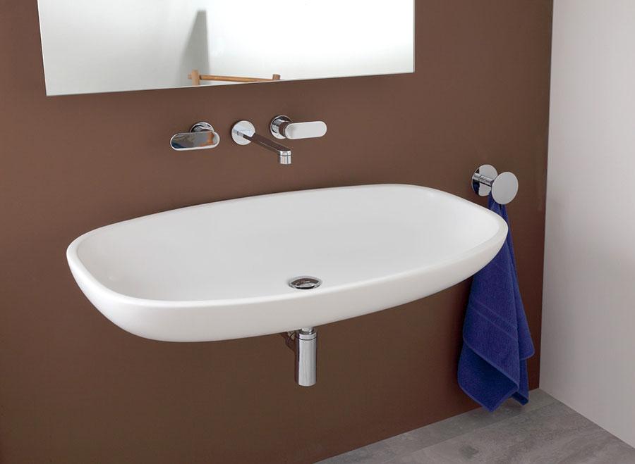 Lavabo bagno sospeso dal design moderno n.13