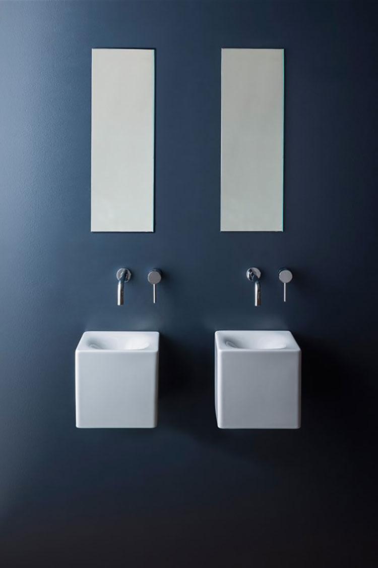 Lavabo bagno sospeso dal design moderno n.15