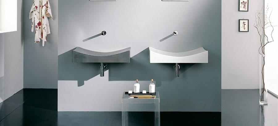 Lavabo bagno sospeso dal design moderno n.16