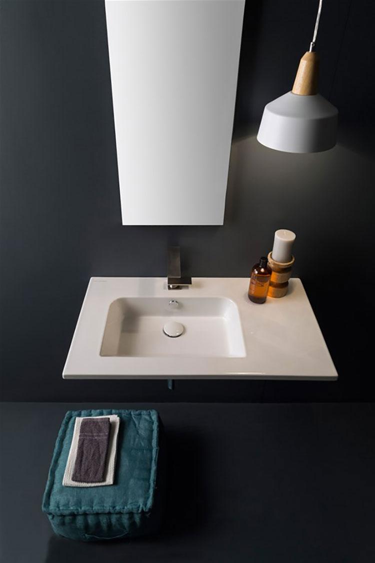 Lavabo bagno sospeso dal design moderno n.17