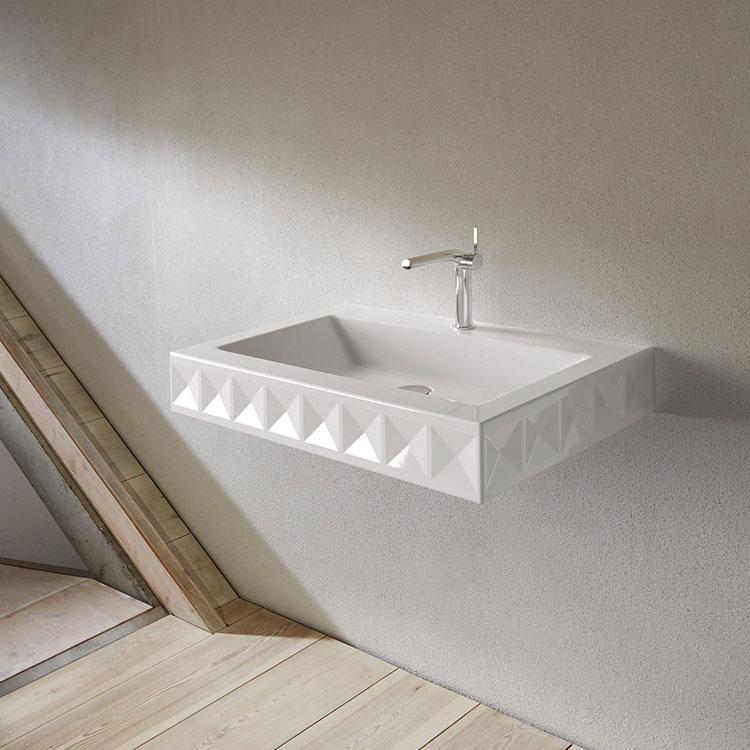 Lavabo bagno sospeso dal design moderno n.18