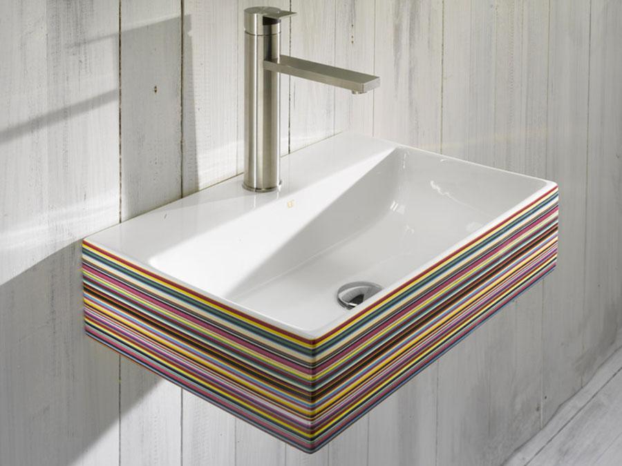 Lavabo bagno sospeso dal design moderno n.19