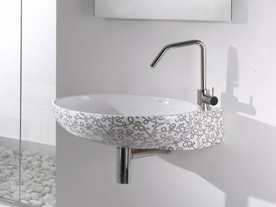 Lavabo bagno sospeso dal design moderno n.20