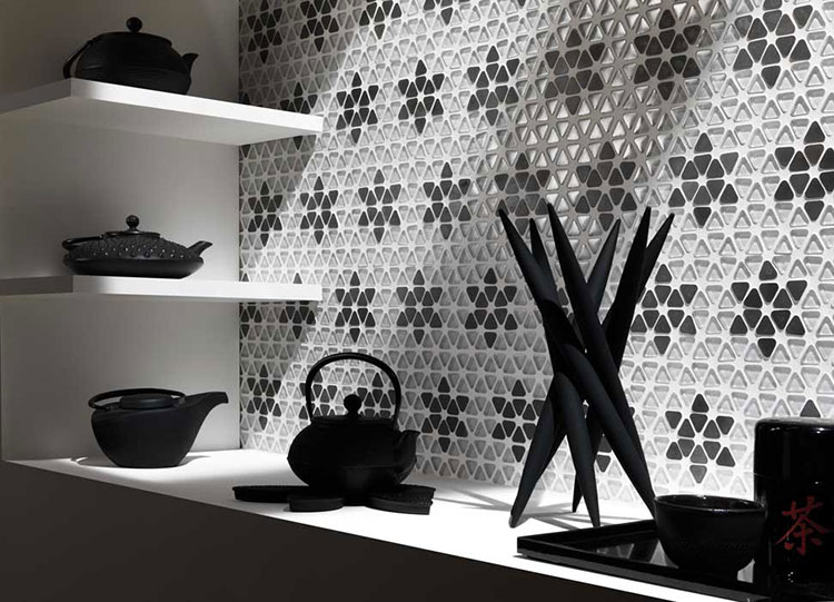 Rivestimento per parete di cucina dal design originale n.01