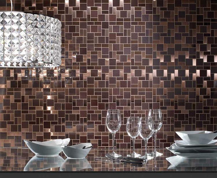 Rivestimento per parete di cucina dal design originale n.02