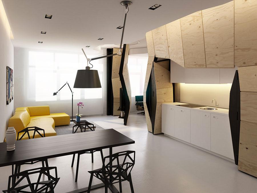 Bien connu Come Arredare una Casa di 60 Mq: Tante Idee dal Design Moderno  RD75