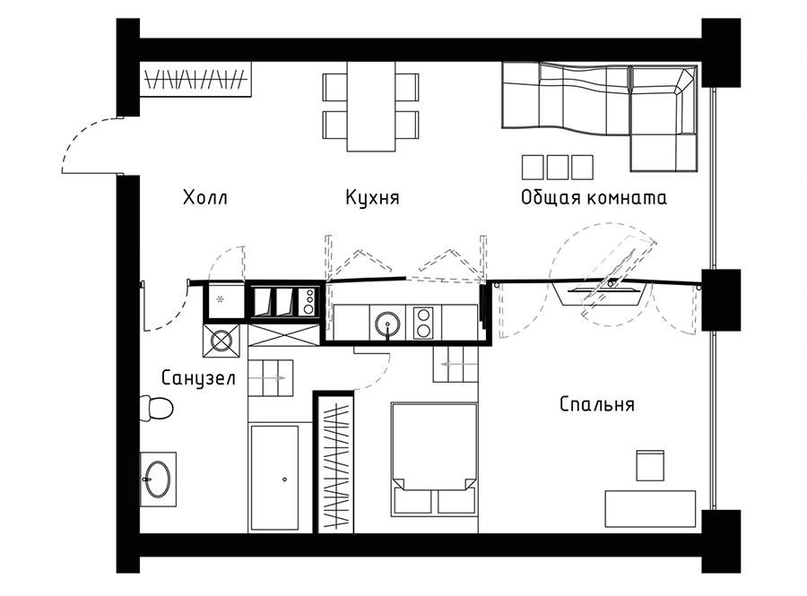 Idee per arredare una casa di 60 mq n.13