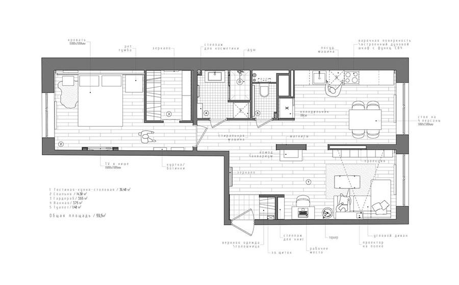 Charming Idee Per Arredare Una Casa Di 60 Mq N.29