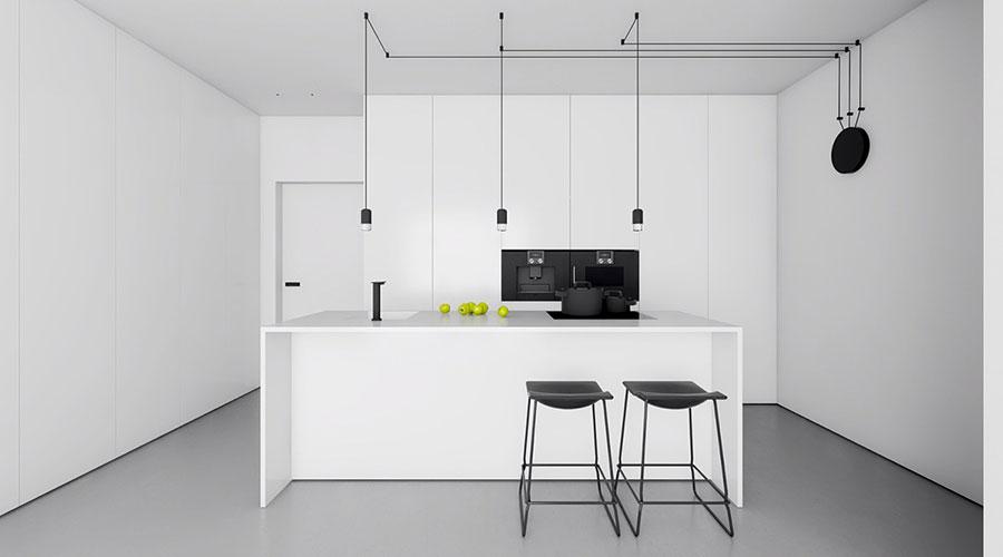 Idee per un arredamento bianco e nero in stile minimal n.04
