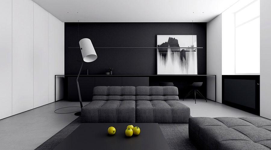 Idee per un arredamento bianco e nero in stile minimal n.05